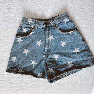 High-Waisted Star Shorts